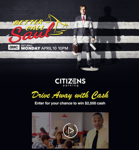 Bigbuzz Teams Client Citizen's Parking & AMC's Better Call Saul for Season 3 release and Los Pollos Hermanos Pop-Up Marketing