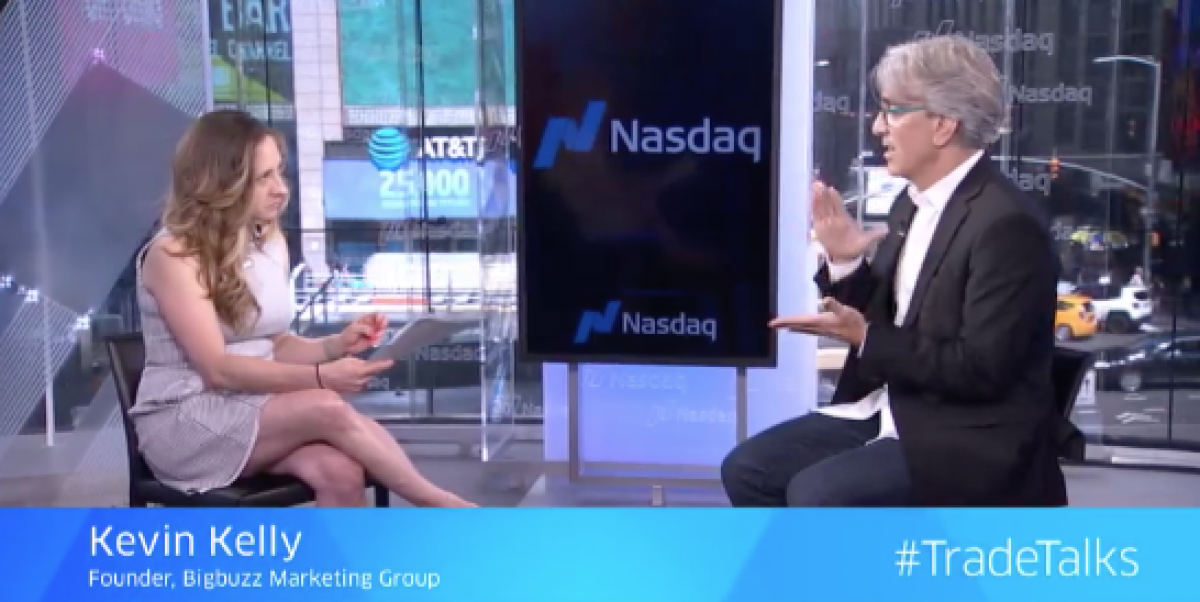Bigbuzz President Kevin Kelly Featured on the NASDAQ #TradeTalks