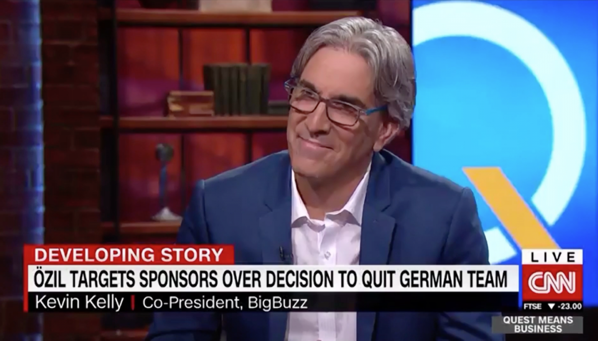 CNN Invites Bigbuzz President Kevin Kelly to Discuss Mesut Ozil's Resignation
