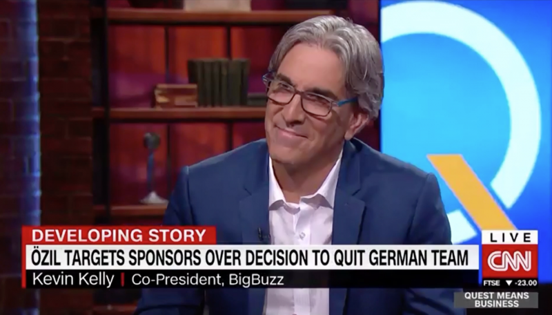 CNN Invites Bigbuzz President Kevin Kelly to Discuss Mercedes Controversial Reaction to Mesut Ozil